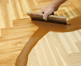 Wooden Floor Being Refurbished