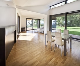 A wooden floor in a modern home